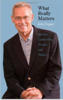 "Screen shot of the cover of John Pepper's book, ""What really matters"""